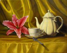 Still Life Pictures for Painting   Photo of finished still life oil painting by Rita Romero.
