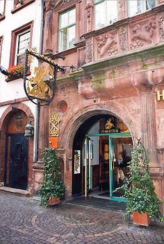 Entrance to the Hotel Zum Ritter St. Georg.  Heidelberg, GERMANY