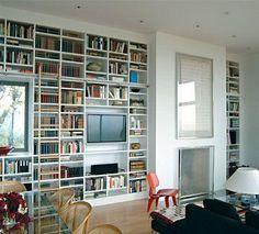 bookshelves as walls, love it