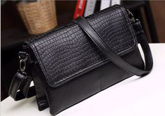 d10393b 2016 fashion women alligator pattern shoulder bag retro shoulder long strip crossbody bag #Crossbody_Bag, #pattern