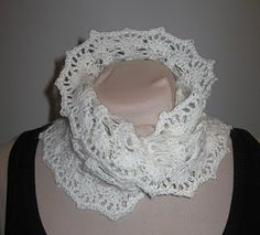 Crochet Angora Cowl.