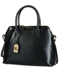 Richly hued leather and a clean silhouette give this domed satchel a look  of elegant efficiency. By Lauren Ralph Lauren.