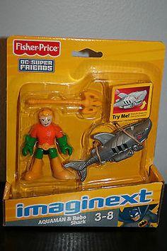 Batman Imaginext DC Super Friends Gotham City Aquaman & Robo Shark VHTF NEW