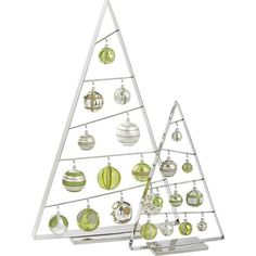 Ornament Trees from Crate and Barrel. I have wanted these for 2 years now. I might get them this year!
