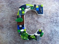 Custom Lego letter  5 in by  4 in  C Reserved by MosaicTreasureBox, $23.99