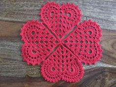 49 Ideas for crochet heart necklace gifts Crochet Flower Patterns, Doily Patterns, Crochet Motif, Crochet Doilies, Crochet Flowers, Crochet Geek, Crochet Hearts, Thread Crochet, Crochet Stitches