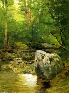 Forest Brook, huile sur toile de Charles Warren Eaton (1857-1937, United States)