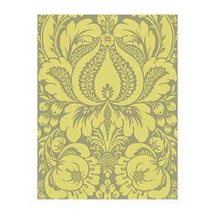 Papier peint RENO DÉPOT. rabais a 39,99$ damask jaune et gris