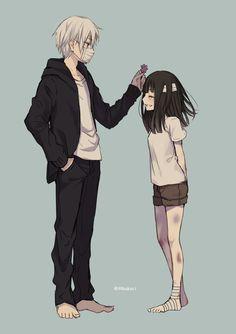 Manga Cute, Good Manga, Cute Anime Boy, Kawaii Anime Girl, Anime Love, Manga Anime, Sad Anime, Anime Siblings, Anime Couples