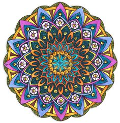 Coloured Version of Mandala 24 June 2014 by Artwyrd.deviantart.com on @DeviantArt
