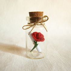 unique and sweet - Message in a bottle Will you marry me or other  by FlowerLandShop, $25.00