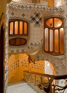 Casa Batillo, Barcelona. Gaudi's work is incredible! The roof top of this building is amazing! ✈✈✈ Don't miss your chance to win a Free Roundtrip Ticket to Barcelona, Spain from anywhere in the world [GIVEAWAY] ✈✈✈ https://thedecisionmoment.com/free-roundtrip-tickets-to-europe-spain-barcelona/