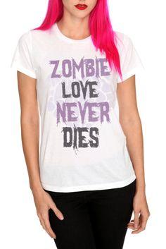 Zombie Love Never Dies Girls T-Shirt | Hot Topic