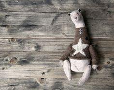 Teddy Bear T  Artist Handmade Textile Toys  от LittleThingsJenAnt
