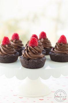 Double Dark Chocolate Cookie Cups (Oh Sweet Basil).