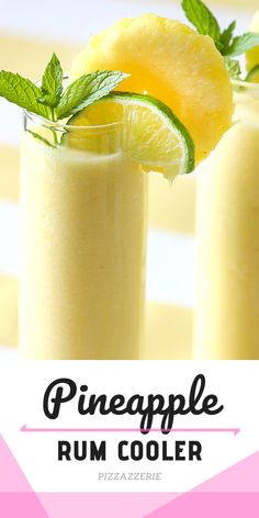 The BEST summer drink recipe! This frozen pineapple cocktail with rum is fabulous! Save the recipe! Summer Rum Drinks, Best Rum Cocktails, Summer Drink Recipes, Frozen Cocktails, Cocktail Recipes, Winter Cocktails, Bar Drinks, Detox Drinks, Cocktail Drinks