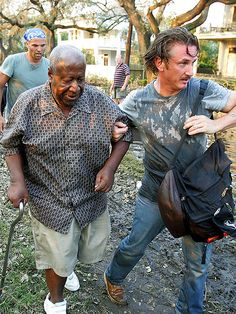 Sean Penn - When the activist actor heard about the plight of tens of thousands of stranded New Orleans residents after Hurricane Katrina struck in September, he sprung into action, speeding down to the Crescent City and personally helped rescue an