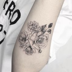 Floral Line Work Tattoo                                                                                                                                                                                 More