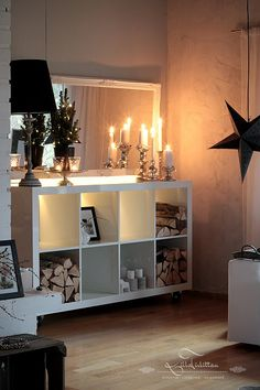 Ikea Expedit - great as a log store too!