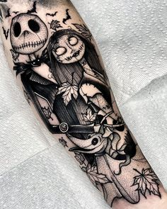 Spooky Tattoos, Dope Tattoos, Black Ink Tattoos, Dream Tattoos, Badass Tattoos, Pretty Tattoos, Leg Tattoos, Beautiful Tattoos, Body Art Tattoos