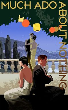 Much Ado About Nothing Poster Art