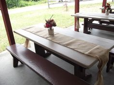 Plain and simple, made for easy clean up.  We also had tables that were in the grass, for those who were a little more  adventurous.