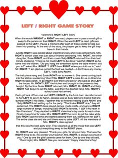 valentine left right game