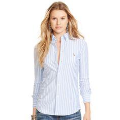 Ralph Lauren Striped Knit Oxford Shirt http://www.ralphlauren.co.uk/product/index.jsp?productId=47437391