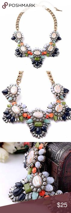❤️NEW❤️ gorgeous stone colorful statement necklace Wow what an exquisite necklace! The stones are absolutely beautiful! Brand new. All jewlwry is buy 2 get 1 free. Jewelry Necklaces