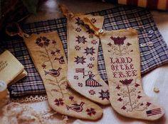 Cross Stitch Pattern  Betsy's Stockings by FiddlestixDesign, $9.00