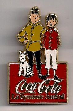 Tintin, Snowy, and Chang Coke pin