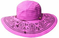 Sakkas Women's Dot Floral Ribbon UPF 50  Sun Hat * Quickly view this special  product, click the image : Best Travel accessories for women
