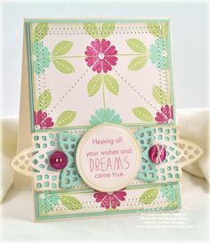Pretty paper and colours plus great die cuts equals another lovely card by Debbie Olson.