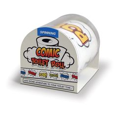 Comic Toilet Paper and more Unique Gifts at Perpetual Kid. When you use our Comic Toilet Paper, no more courtesy flushes are needed! This toilet paper will re Spinning, Creative Inventions, Rolled Paper, Toilet Training, Practical Jokes, Crafts For Boys, Superhero Party, Superhero Gifts, White Elephant Gifts