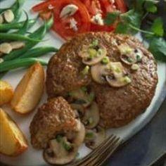 Mushroom-Stuffed Pork Burgers