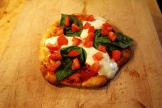 Margarita Naan Bread Pizza Recipe by errow, via Flickr