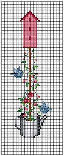 Printemps - Spring - Primavera - Frühling - Nichoir de Mai - Birdhouse May (grille gratuite)