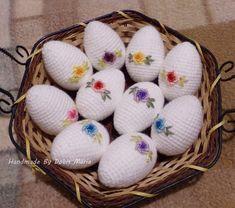 Horgolt hímes tojás (DobisMaria) - Meska.hu