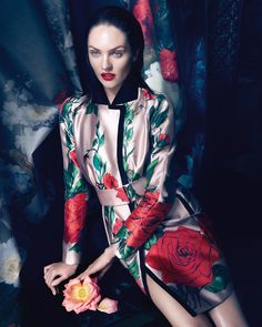 visual optimism; fashion editorials, shows, campaigns & more!: candice swanepoel by camilla akrans for blumarine f/w 13.14