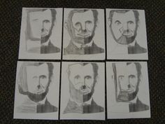 I did this cute symmetry activity with my class last week.  Since we are talking about presidents, I had them draw the left side of Abe Lincoln.  They loved it!