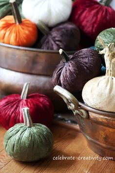 How to make your own velvet pumpkins