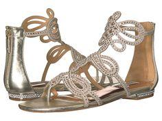 BADGLEY MISCHKA BADGLEY MISCHKA - TEMPE (PLATINO SUEDE/LEATHER) WOMEN'S SANDALS. #badgleymischka #shoes #