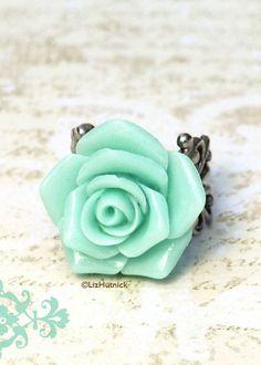 Mint Rose Ring