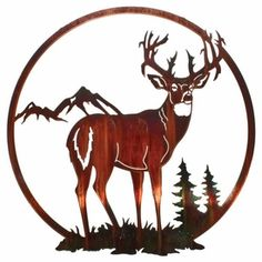 Deer Wall Art cabela's: jumping buck deer metal wall art zoom | welding projects