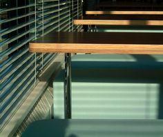 BBC Canteen - bespoke canteen tables (attic 2) Canteen, Attic, Bespoke, Bbc, Blinds, Tables, Desk, Curtains, Furniture