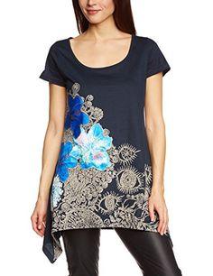 Desigual - Camiseta negra de manga corta para mujer #camiseta #friki #moda #regalo