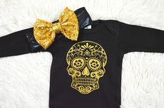 Baby Halloween Outfit-sugar Skull Outfit-First by MMFDiamondBaby