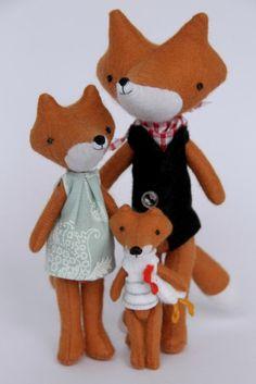 Fox doll family.