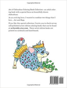 Art Of Chihuahua Coloring Book Volume No 1