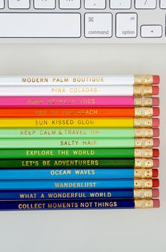 Must-Have: Travel & Beach-Inspired Pencil Sets | The Pura Vida Bracelets BlogThe Pura Vida Bracelets Blog